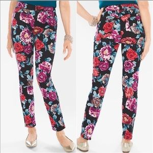 Chico's Floral Jeggings Size 2R